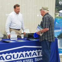 Aquamate representative at the 2016 rainwater revival in TX